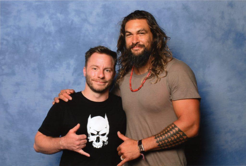 Wenn Aquaman einen in den Arm nimmt, dann fühlt man sich wie aufgehoben. Starker Typ! Leider bisher nur auf internationalen Conventions zu sehen.